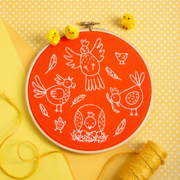Hawthorn Handmade Charming Chickens Embroidery Kit