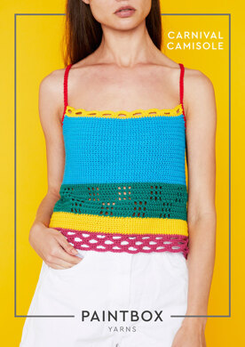 Carnival Camisole in Paintbox Yarns Cotton DK - COT-CRO-WOM-003 - Downloadable PDF