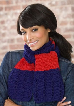 Simple Knit Scarf in Red Heart Super Saver Economy Solids - LW2236
