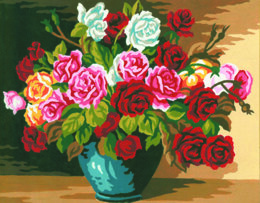 Collection D'Art Bowl of Roses Tapestry Kit - 22 x 30 cm