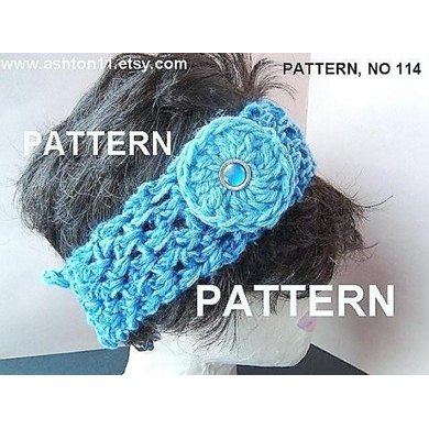 Easy Tie On Headband | Crochet Pattern  by Ashton11
