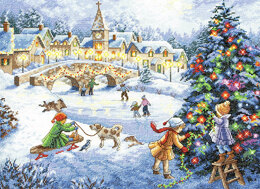 Dimensions Winter Celebration Cross Stitch Kit - 38cm x 28cm