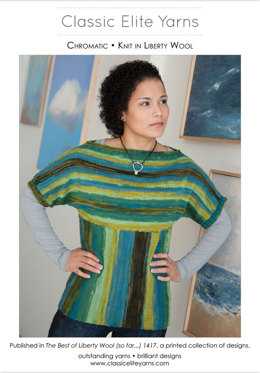 Chromatic Pullover in Classic Elite Yarns Liberty Wool Prints - Downloadable PDF