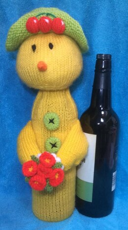 Easter Chick Wine Bottle Cover