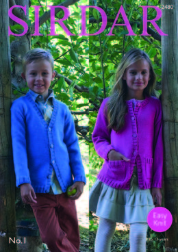 Cardigans in Sirdar No.1 - 2480 - Downloadable PDF