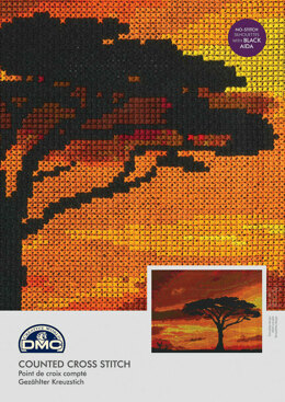 DMC Savannah Sunset 14 Count Cross Stitch Kit