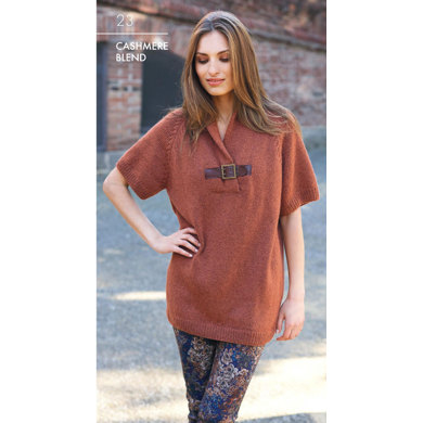 Short Sleeve Sweater in Katia Cashmere Blend