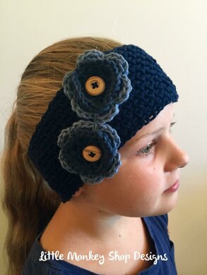 Shannon's Ear Warmer with Button Flower