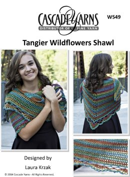 Wildflowers Shawl in Cascade Tangier - W549