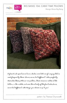 Cable Time Pillows in Mango Moon Big Bang - 104 - Downloadable PDF