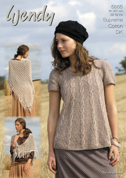 Swing Tunic and Shawl in Wendy Supreme Cotton DK - 5665