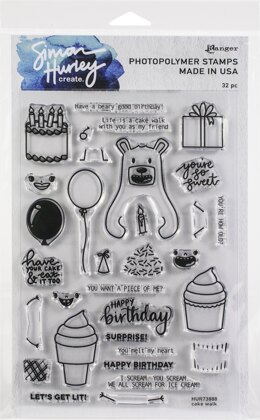 "Ranger Simon Hurley create. Cling Stamps 6""X9"" - Cake Walk"