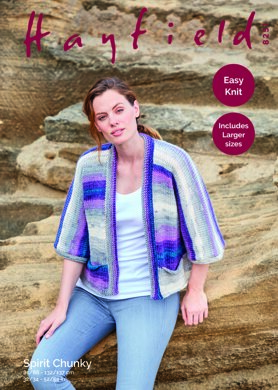 Kimono Jacket in Hayfield Spirit Chunky - 8251 - Downloadable PDF