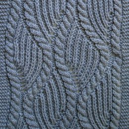 Brioche and Traveling Cable Turtleneck Scarf
