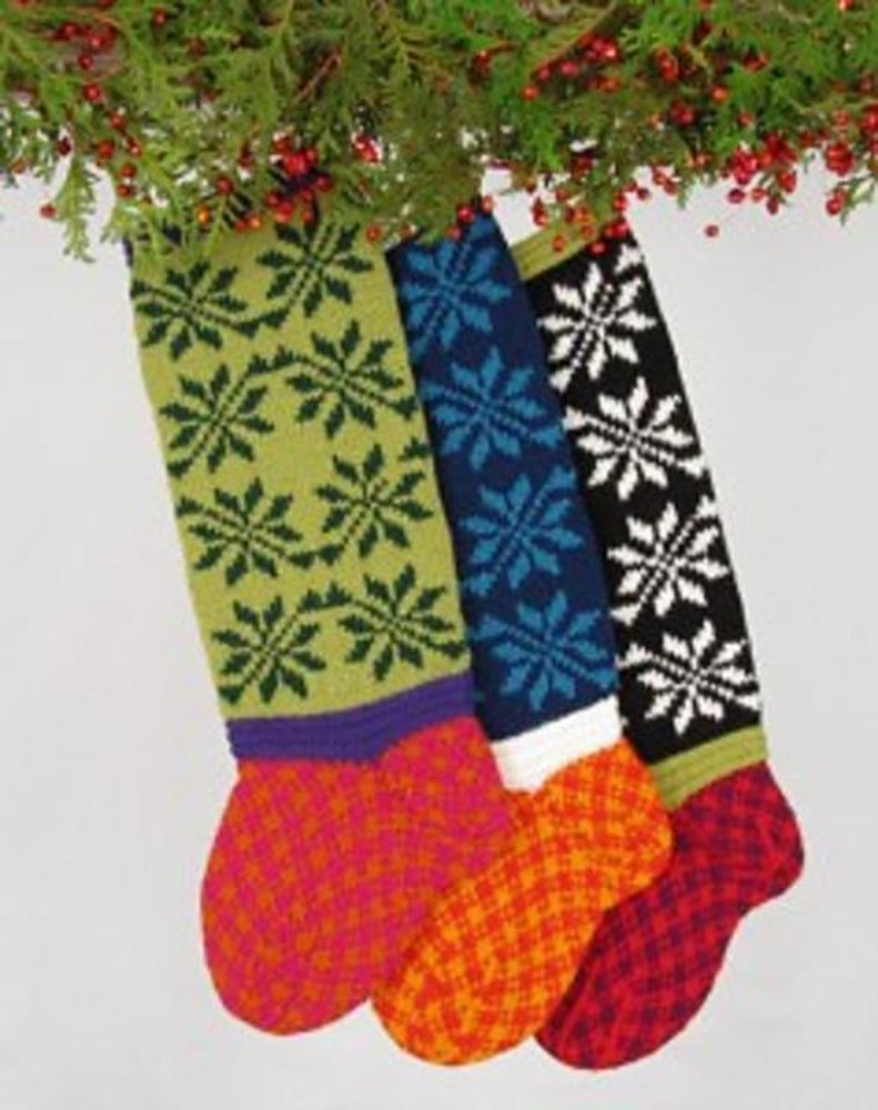 Poinsettia Christmas Stocking Knitting pattern by Judy ...