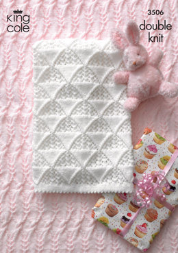 Baby Blankets in King Cole DK - 3506