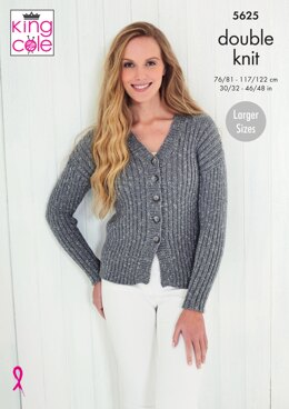 Cardigan & Tops in King Cole Cotton Top DK - 5625 - Downloadable PDF