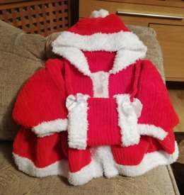 Christmas Eva Coat and Hand Muff 0-9mths