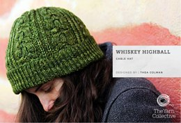 """Whiskey Highball Cable Hat by Thea Colman"" - Hat Knitting Pattern in The Yarn Collective"