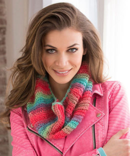 Easy Tropical Cowl in Red Heart Boutique Unforgettable - LW4782 - Downloadable PDF