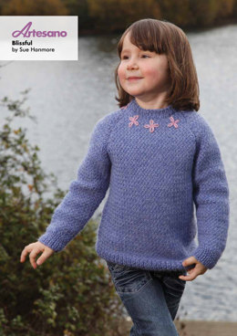 Blissful Sweater in Artesano Aran