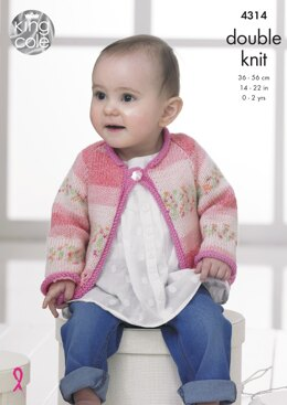 Baby Set in King Cole DK - 4314 - Downloadable PDF