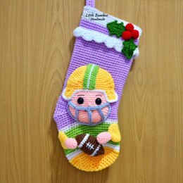 Rugby Player Christmas Stocking