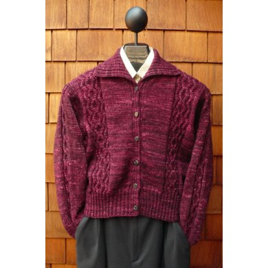 MS 190 Women's Zigzag Cable Cardigan