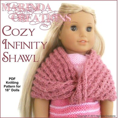 Cozy Infinity Shawl For Ag And 18 Dolls Knitting Pattern By Marinda