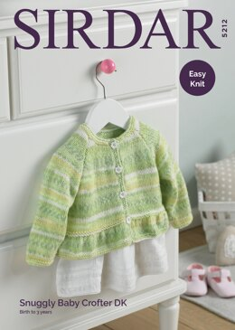 Baby Girl's Cardigan With Peplum in Sirdar Snuggly Crofter DK - 5212 - Downloadable PDF