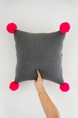 The Neon Pink Pompom Pillow