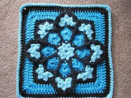 JulieAnny's Stained Glass Afghan Square