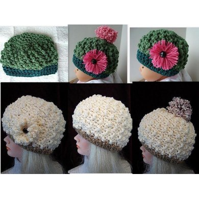 Bobble Stitch Crochet Hat by SweetPotatoPatterns