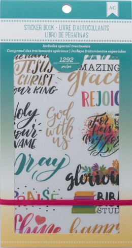 "American Crafts Planner Stickers 12-Page Book 4.75""X9"" - Faith"