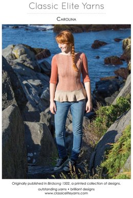Carolina Pullover in Classic Elite Yarns Cerro and MountainTop Canyon - Downloadable PDF