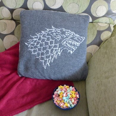 """Cushion Cover """"Stark, Winter is Coming"""""""