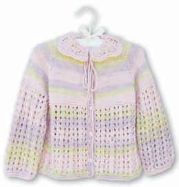 Petals Baby Cardie in Knit One Crochet Too Ty-Dy - 1520