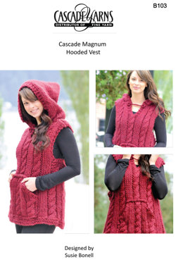 Hooded Vest in Cascade Magnum and 220 - B103