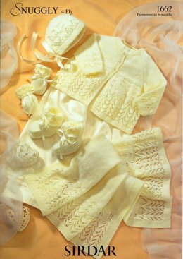 Premature Baby Set in Sirdar Snuggly 4 Ply - 1662