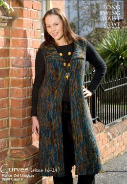 Long Swing Waist Coat in Manos del Uruguay Clasica Wool