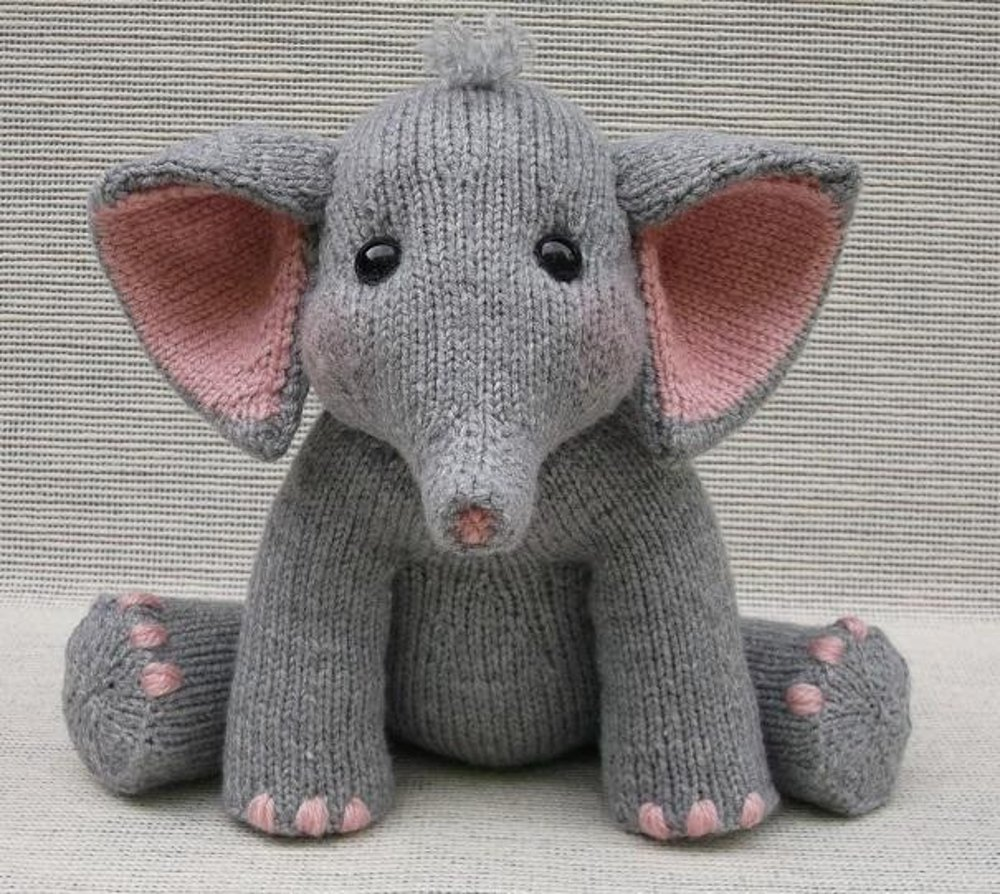 Baby elephant knitting pattern by rainebo