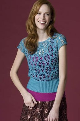 Ripples in the Stream Crochet Shell in Tahki Yarns Cotton Classic Lite