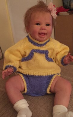 Tippy Toes 0-3 and 3-6mths Jumper and Nappy Cover