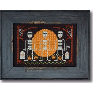 Tiny Modernist Halloween Skeletons - Leaflet