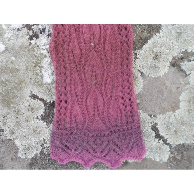 Grape Ivy Lace Scarf