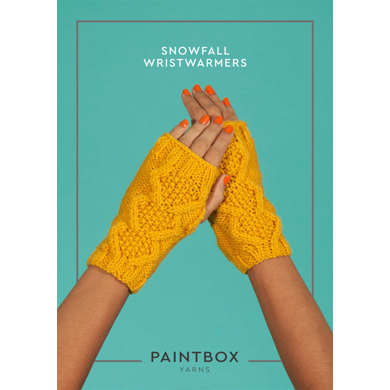 Snowfall Wristwarmers in Paintbox Yarns Simply Aran - Aran-Acc-003
