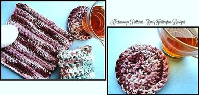 CROCHET DISHCLOTH, COASTER & PLACEMAT