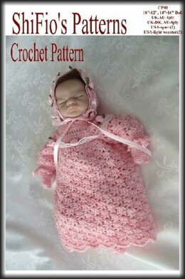 """Crochet pattern doll clothes sizes 10""""-12"""" & 14""""-16"""" doll UK & USA Terms #89"""