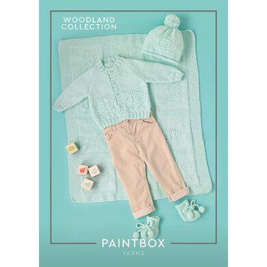 Woodland Friends : Booties Knitting Pattern for Babies in Paintbox Yarns DK | Light Worsted Yarn