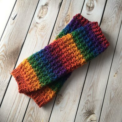 Star Stitch Leg Warmers